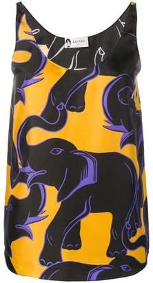 Lanvin elephant print blouse