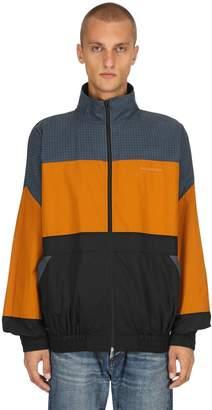 Balenciaga Light Cotton Poplin Zip-Up Shirt Jacket