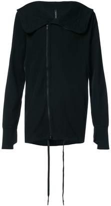 Nude zipped hoodie