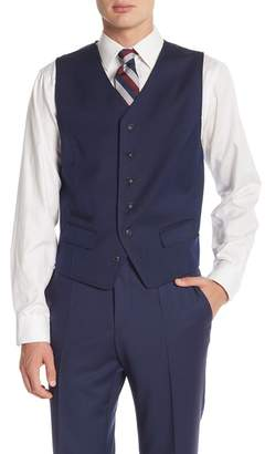 Ben Sherman 6B Blue Birdseye Siz Button Vest