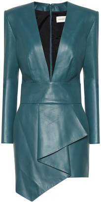 Alexandre Vauthier Leather minidress