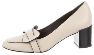 Tory BurchTory Burch Leather Square-Toe Pumps