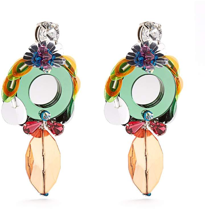 Miu Miu MIU MIU Flower-drop clip-on earrings