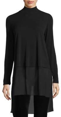 Eileen Fisher Stretch Silk Jersey Tunic