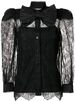 Gucci Chantilly lace blouse