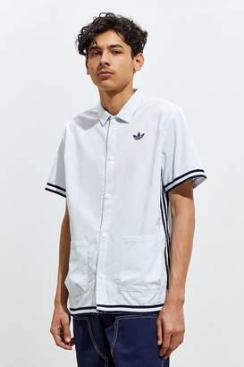 adidas Seersucker Short Sleeve Button-Down Shirt