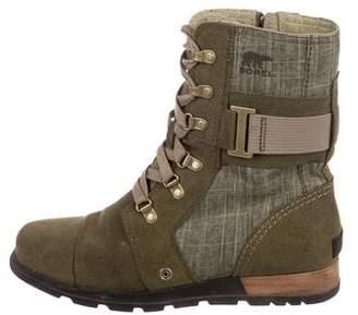 Sorel Suede Round-Toe Boots
