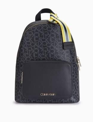 Calvin Klein monogram ribbon stripe backpack