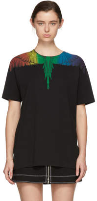 Marcelo Burlon County of Milan Black Rainbow Wing T-Shirt
