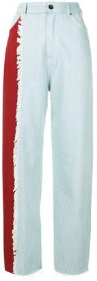 House of Holland contrast mom jeans