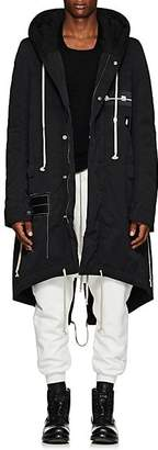 Rick Owens Men's Cotton-Blend Hooded Parka - Black