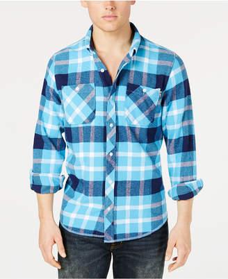 Lrg Men's Overcome Plaid Flannel Shirt