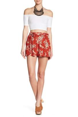 Angie Belted Print Shorts