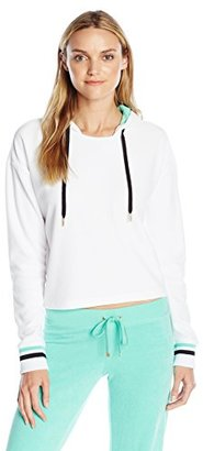 Juicy Couture Black Label Women's FT Velour Pullover $188 thestylecure.com