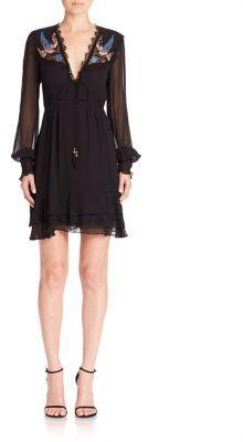 Nanette Lepore Fly Free Silk Embellished Dress $598 thestylecure.com