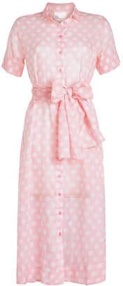 Lisa Marie Fernandez Sheer Cotton Printed Shirt Dress