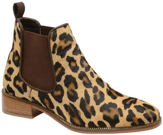 Ravel Womens Leopard Ankle Boot - Brown
