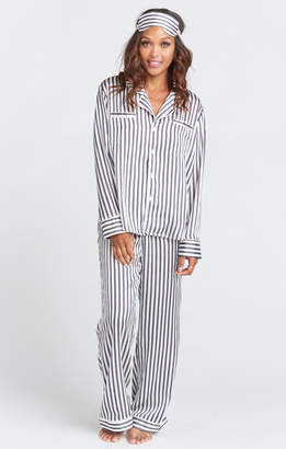 Show Me Your Mumu Paige PJ Set With Eye Mask ~ Mini Bar Stripe