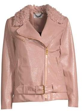 Milly Crinkle Faux Leather Jacket