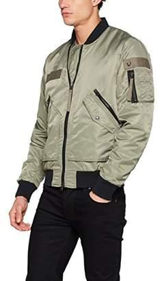 True Religion Men's Bomber Jacket, (Chalk Green 3122), Medium