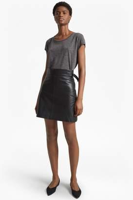 French Connenction Goldenburg Leather Mini Skirt