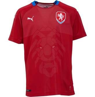 Puma Junior Boys Czech Republic Home Replica Shirt Chilli Pepper Royal