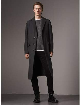Burberry Melange Wool Blend Coat
