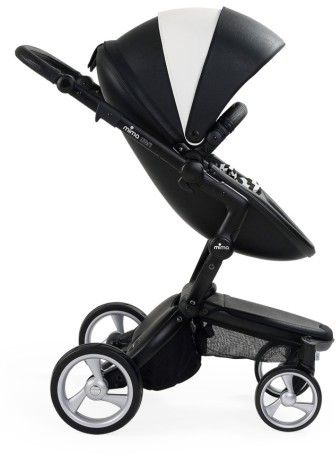 Infant Mima Xari Black Frame Stroller With Reversible Reclining Seat & Carrycot 3