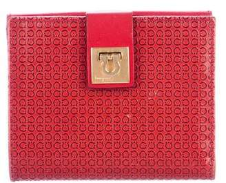 Salvatore Ferragamo Embossed Compact Wallet