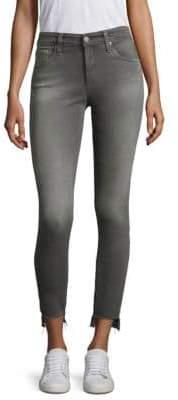AG Jeans Farrah Step Hem Skinny Jeans