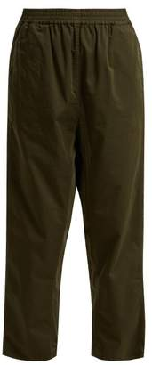 MM6 MAISON MARGIELA Straight-leg cropped cotton trousers