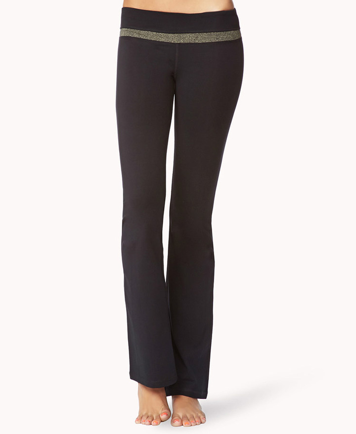 Forever 21 Metallic Fit & Flare Yoga Pants