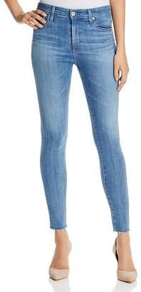 AG Jeans Farrah Raw Hem Skinny Ankle Jeans in Ceased Wind