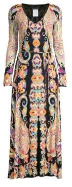 Etro Jersey Paisley Long Sleeve Dress