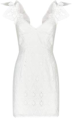 Shona Joy Viola Ruffle Mini Dress