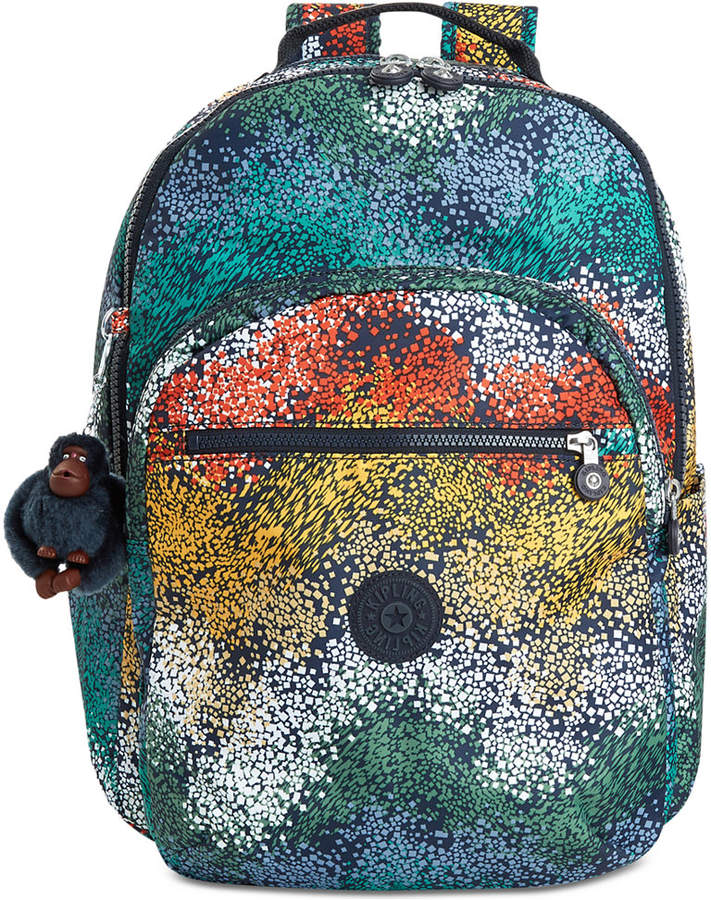 Kipling Seoul Large Backpack - LUSCIOUS FLORALS WHITE - STYLE