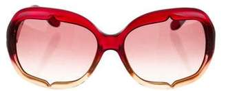 John Galliano Oversize Logo Sunglasses
