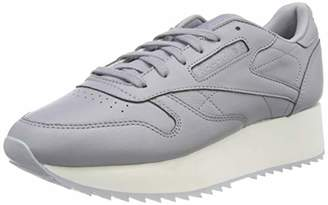 9d3c2077903 Reebok Women s Classic Leather Low-Top Sneakers Double Cool Shadow Chalk Cloud  Grey