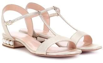 Nicholas Kirkwood Casati Pearl leather sandals