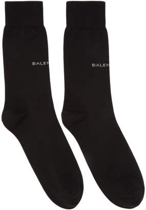 Balenciaga Black Logo Socks