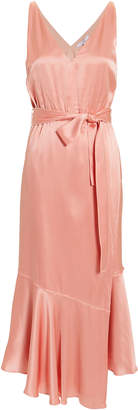 Derek Lam 10 Crosby Blush Satin Midi Dress