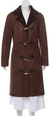 Tory Burch Shearling Long Coat