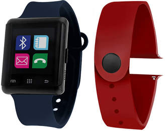 ITOUCH Itouch Air Activity Tracker & Interchangeable Band Set Navy/Burgundy Multicolor Smart Watch-Jcp5553b724-Nab