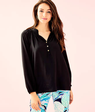 fc565c6338c30 at Lilly Pulitzer · Lilly Pulitzer Womens Elsa Silk Top