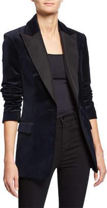 A.L.C. Steele One-Button Velvet Jacket