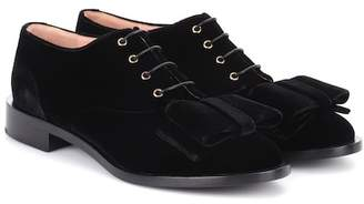Rochas Velvet Oxford shoes