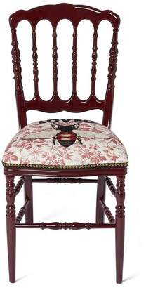 Gucci Wood chair with embroidered bee