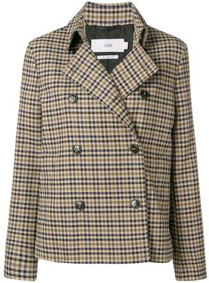 Closed checked double-breasted jacket