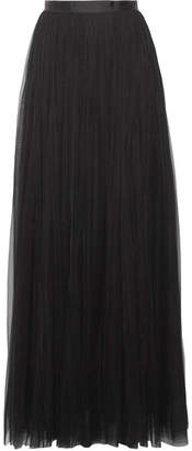 Needle & Thread - Tulle Maxi Skirt - Black $165 thestylecure.com