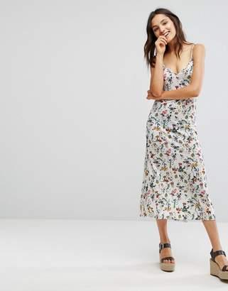 Pull&Bear Floral Cami Midi Dress